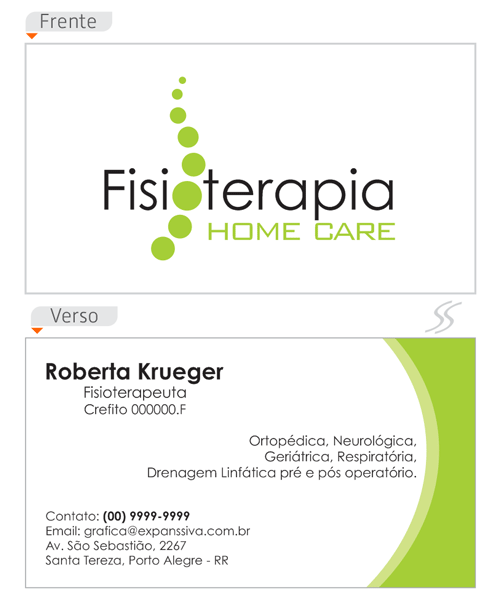 cartao de visita fsioterapia home care