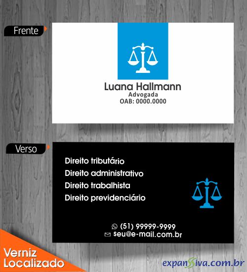 cartão de visita advogado frente e verso