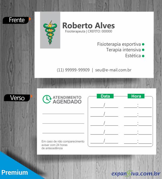Cartão Marcação de Consulta Fisioterapia