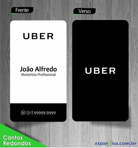 Cartão de Visita Moderno UBER