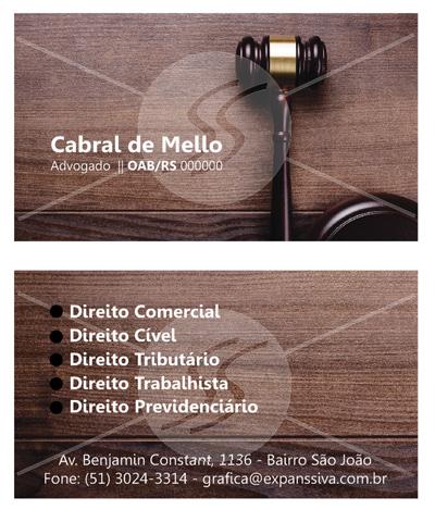 cartoes advocacia - Cartão de Visita para Advogados