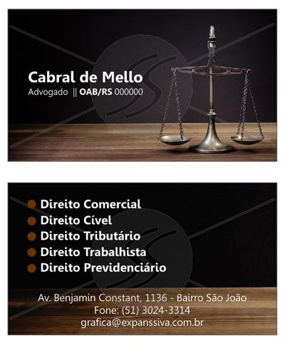 cartoes direito - Cartão de Visita para Advogados