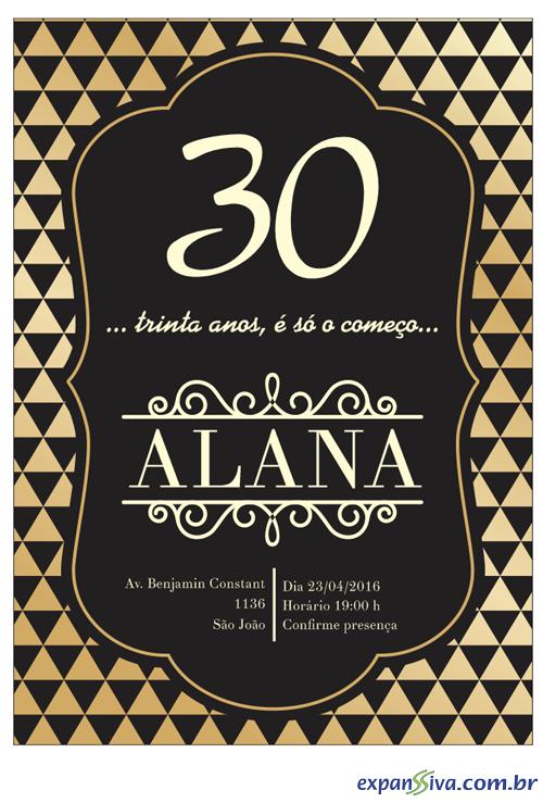 Convites Para 30 Anos M7546 Gráfica Expanssiva
