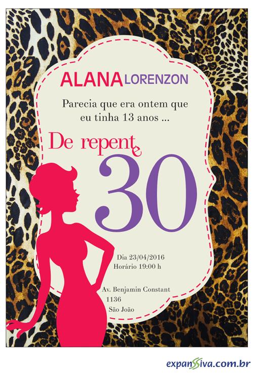 Convites Para 30 Anos M7548 Gráfica Expanssiva