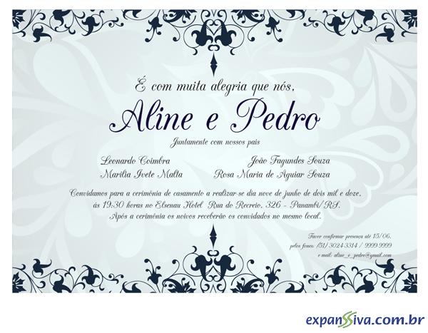 Convites Para Casamento M2476 Grafica Expanssiva