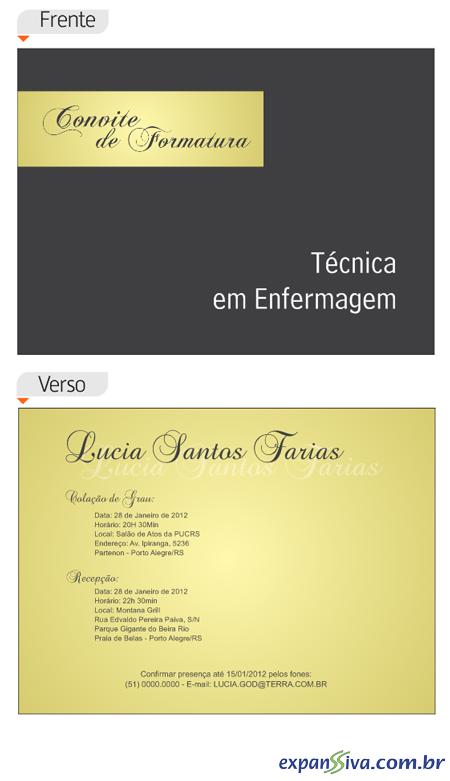 Convites Para Formatura M2346 Gráfica Expanssiva