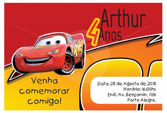 Convites Infantis Para Carros M3573 Gráfica Expanssiva