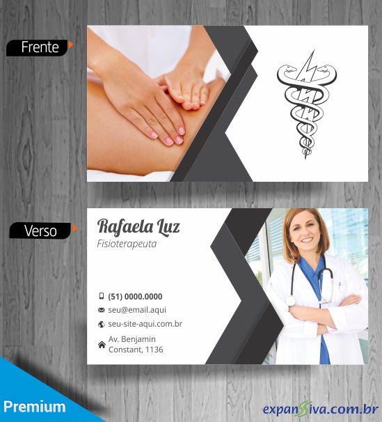 Modelo Cartão de Visita de Fisioterapia