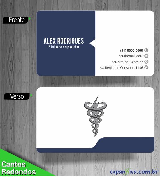 Cartão de Visita Criativo Cantos Redondos Fisioterapia