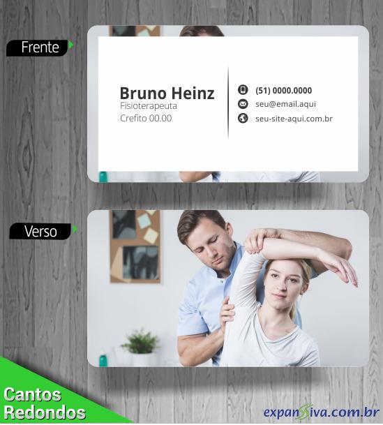 gráfica cartão de visita fisioterapia