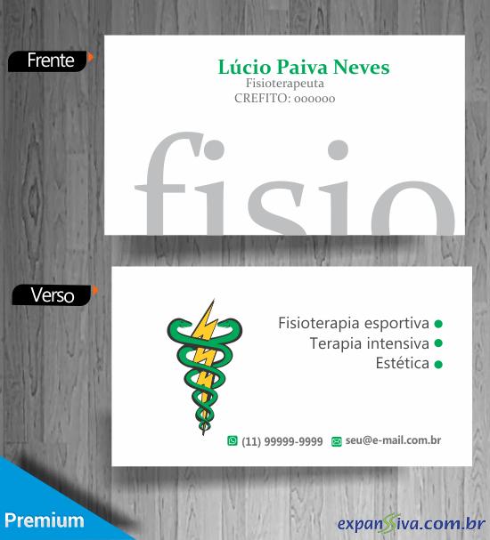 impressao cartao de visita fisioterapia - Cartões de Visita de Fisioterapia