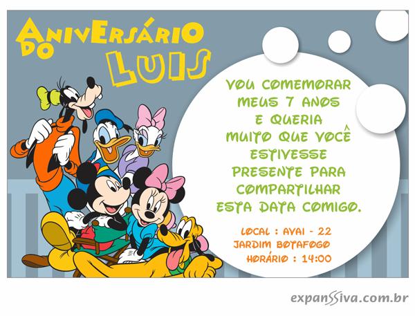 Convites Infantis Para Mickey M6768 Gráfica Expanssiva
