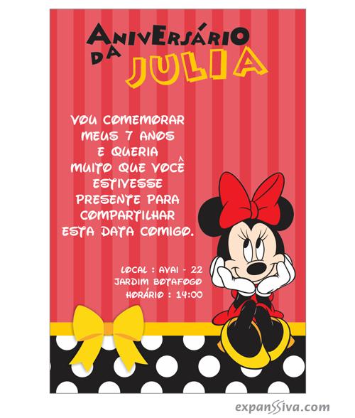 Convites Infantis Para Mickey M6782 Gráfica Expanssiva