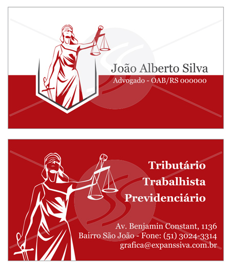 modelos de cartoes de advogados bordo - Cartão de Visita para Advogados