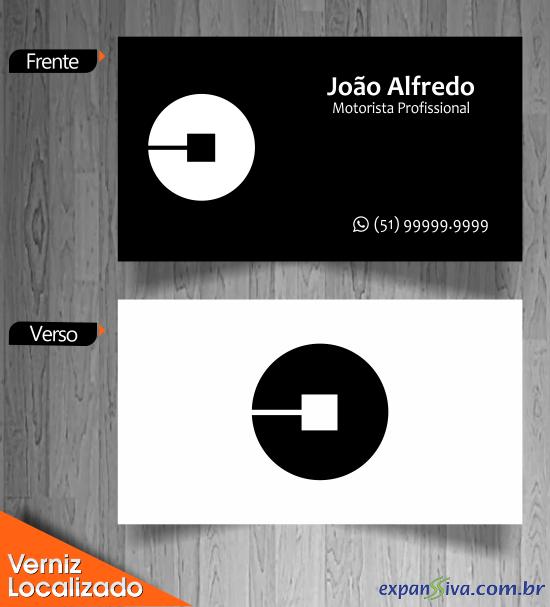 Cartão de Visita Criativo UBER