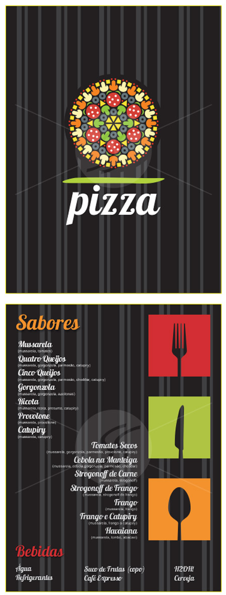 graficas panfletos de pizzarias