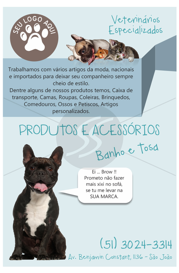 Modelo de Panfleto Pet Shop