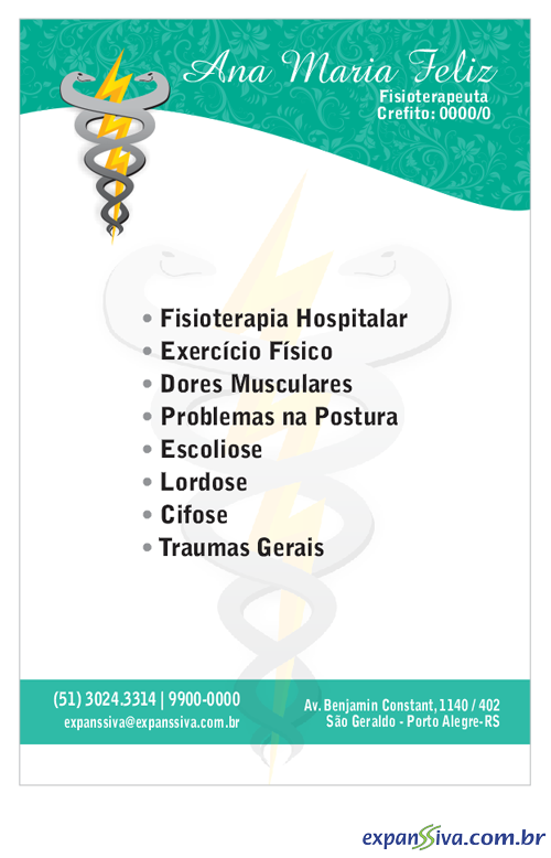 panfleto verde logotipo da fisioterapia de marca d agua - Marketing Profissional para Fisioterapeutas