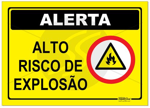 Resultado de imagem para RISCO EXPLOSAO
