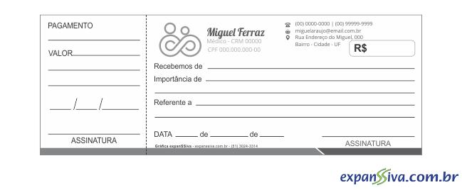 recibos para médicos m22102 gráfica expanssiva