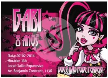 Convites de Aniversário Monster High