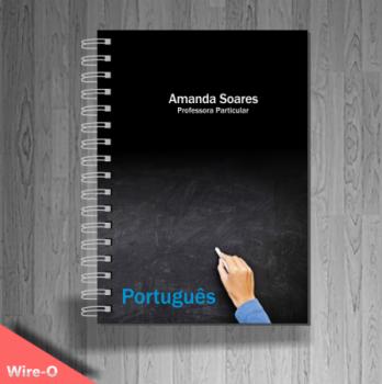 caderno personalizado professor de portugues