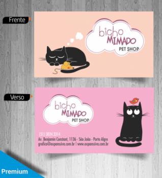 Cartões De Visita Criativos Pet Shop Banho E Tosa Gráfica Expanssiva