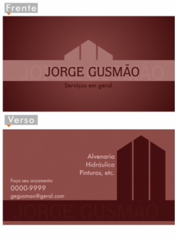 Cartões De Visita Reformas E Construções Pedreiros Construção