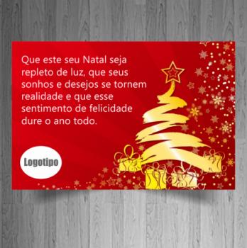 carto de natalino personalizado para empresas