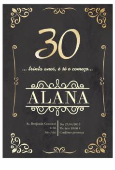Convites De 30 Anos Criativos Gráfica Expanssiva