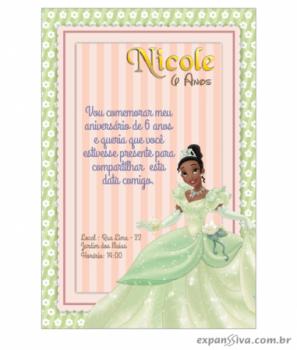 Convite de Aniversário Princesas