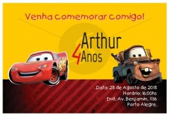 Convites Aniversário Infantil Carros Gráfica Expanssiva
