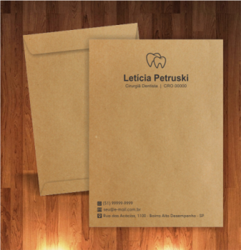 Envelope Personalizado dentistas para documentos