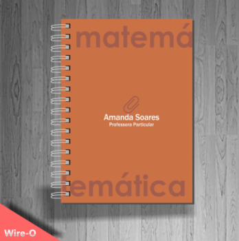 exemplo de caderno personalizado pedagogia