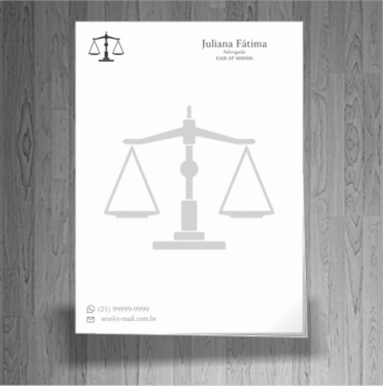 folha timbrada advogado preto e branco 06 - Advogado autônomo - Como começar a carreira
