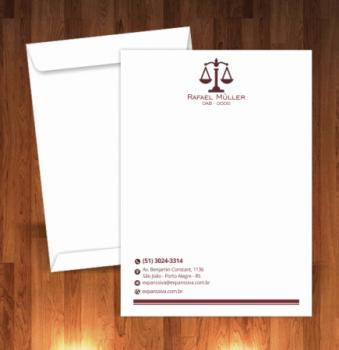 modelo envelope advogado 22 - Advogado autônomo - Como começar a carreira