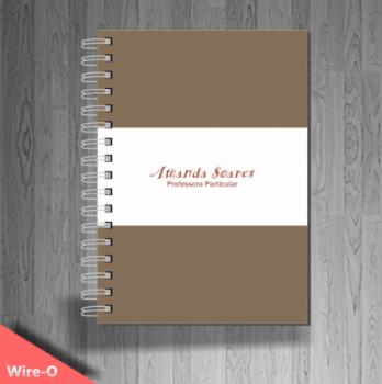 personalizar caderno para professor