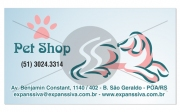 cartao de visita pet shop