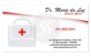 layout cartoes de visita medicos,