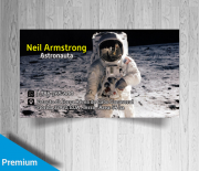 business card astronaut