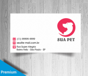 Cartões De Visita Para Pet Shop M19477 Gráfica Expanssiva
