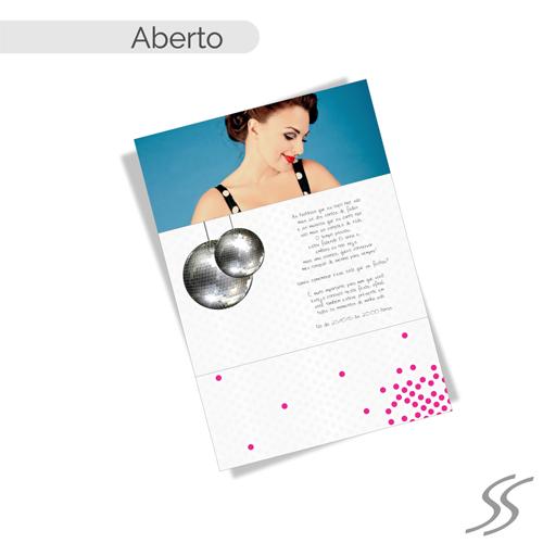 65f7282ca ... convite de quinze anos em rosa. Imagem ilustrativa. Saiba Mais. Papel  Aspen  180gr.