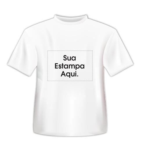 d9a64ea9e Camiseta Infantil Personalizada Branca - Poliéster - Área Impressa Até  21x29