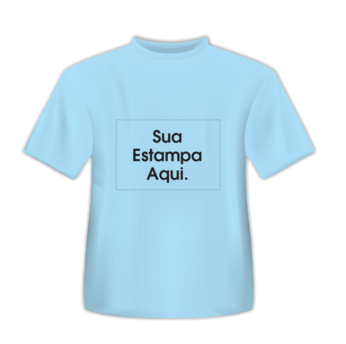 Camiseta Personalizada Azul Claro - Poliéster - Área Impressa 21x29 ... 439dda820c2ab