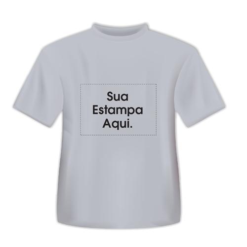 Camiseta Personalizada Cinza - Poliéster - Área Impressa 21x29 01d7b3bedb775