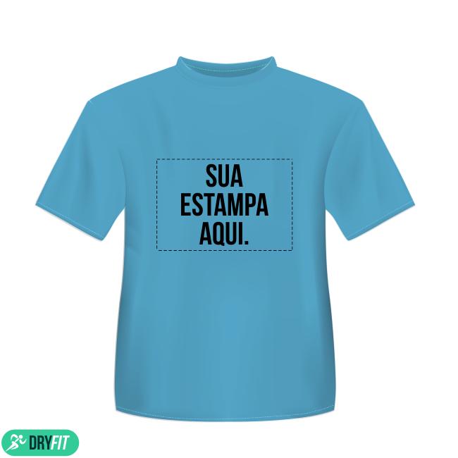Camiseta Dry Fit - Personalizada Azul - Área Impressa 21x29 4cbb55568dd
