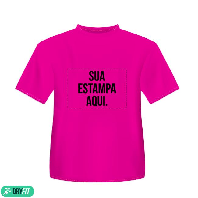 ffa145f420561 Camiseta Dry Fit - Personalizada Rosa - Área Impressa 21x29