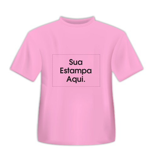 Camiseta Personalizada Rosa Claro - Poliéster - Área Impressa 21x29 ... c7501bd96b774