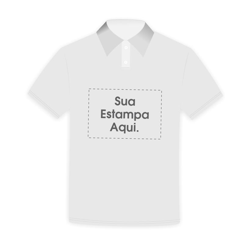 b0c130c3cb Camiseta Polo Personalizada Cinza - Poliéster - Área Impressa 21x29 ...
