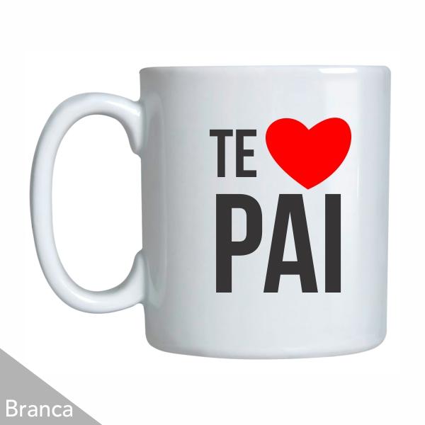 3e16e5453 Caneca Personalizada Dia dos Pais - Branca - Porcelana - 300 ml ...